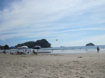 Enjoying the beach in Manuel Antonio